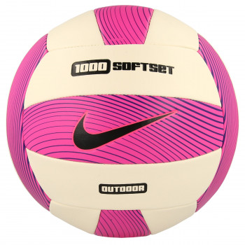 NIKE NIKE 1000 SOFTSET OUTDOOR VOLLEYBALL DEFLATED HYPER PINK/WHITE/HYPER GRAPE/BLACK